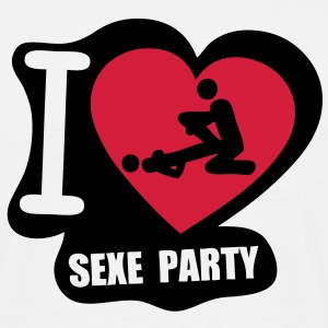 i love sexe party Tee shirts - T-shirt Homme