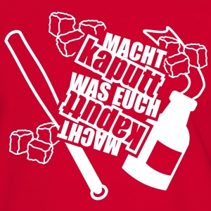 1 Colors - Macht kaputt was euch kaputt macht Molotow-Cocktail Tee shirts - T-shirt contraste Homme