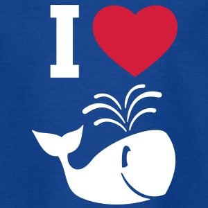 I love whales! Kids' Shirts - Teenage T-shirt