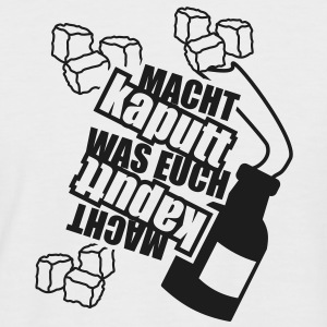 1 colors - Macht kaputt was Euch Molotow Cocktail Steine Tee shirts - T-shirt baseball manches courtes Homme