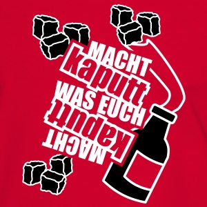 2 colors - Macht kaputt was Euch Molotow Cocktail Steine T-Shirts - Men's Ringer Shirt