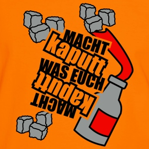 3 colors - Macht kaputt was Euch Molotow Cocktail Steine T-Shirts - Men's Ringer Shirt