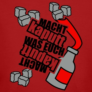 3 colors - Macht kaputt was Euch Molotow Cocktail Steine T-Shirts - Men's Organic T-shirt