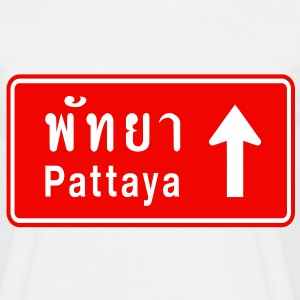 Pattaya, Thailand / Highway Road Traffic Sign - Men's T-Shirt