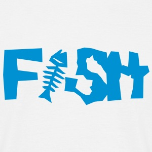 cooles fish-Motiv - Männer T-Shirt