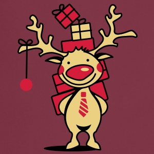 A reindeer with gifts  Aprons - Cooking Apron