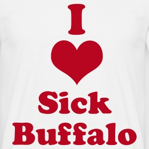 I Heart (Love) Sick Buffalo - Men's T-Shirt
