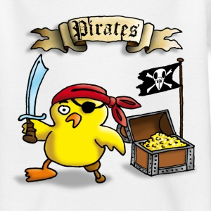 pirate_chick_c T-shirts - Teenager-T-shirt