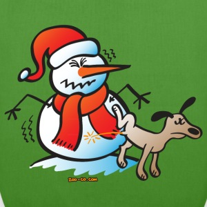 Dog Pissing on a Snowman Bags  - EarthPositive Tote Bag