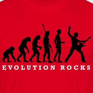 evolution_rocks_a_2c T-Shirts - Men's T-Shirt