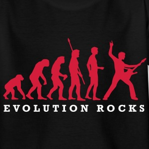 evolution_rocks_a_2c Kinder T-Shirts - Teenager T-Shirt
