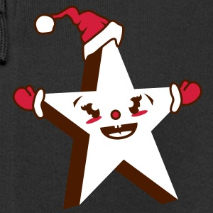 Kawaii Star with Santa Hat Kids' Tops - Kids' Premium Zip Hoodie