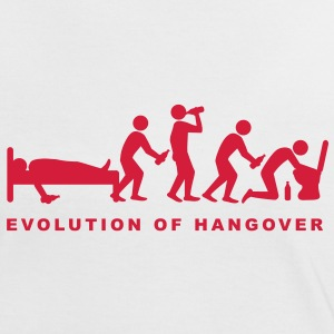 evolution_of_hangover T-shirts - Vrouwen contrastshirt