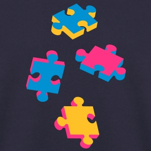 four puzzle pieces  Hoodies & Sweatshirts - Men's Sweatshirt