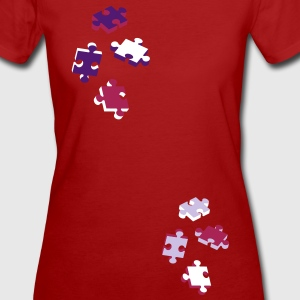 four puzzle pieces  T-Shirts - Women's Organic T-shirt