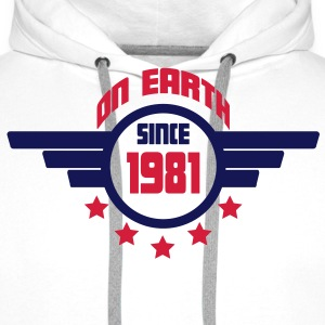 1981_on_earth Sweatshirts - Herre Premium hættetrøje