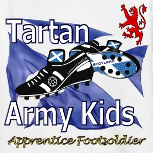 Tartan Army Kids Scotland Football - Teenage T-shirt