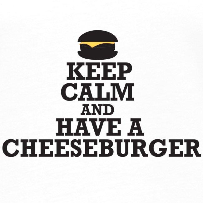 Ladies 'Keep Calm and Have A Cheeseburger' Retro T-Shirt