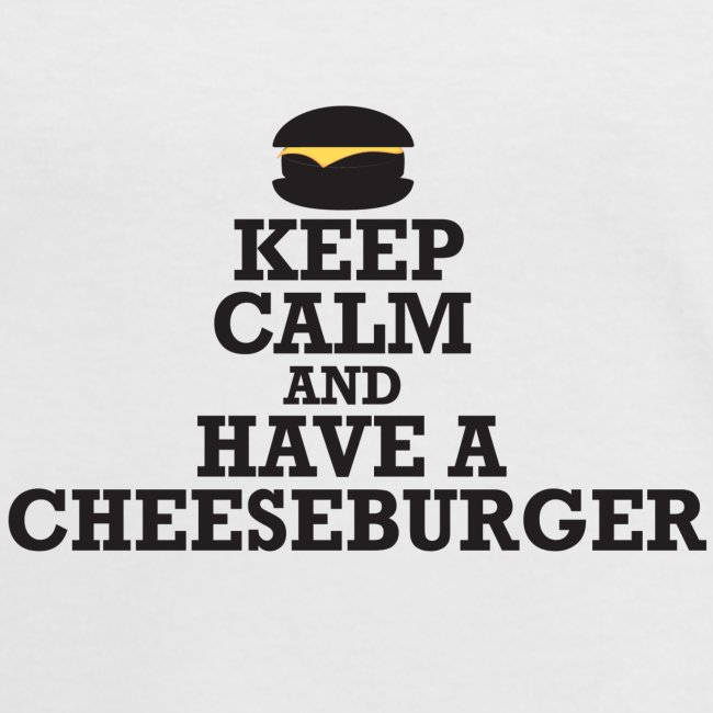 Ladies 'Keep Calm and Have A Cheeseburger' Retro T-Shirt