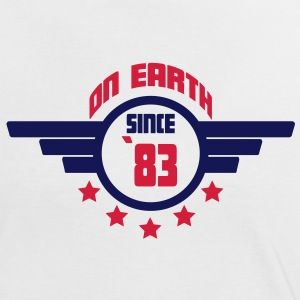 83 on earth - Geburtstag -T-Shirts - Frauen Kontrast-T-Shirt