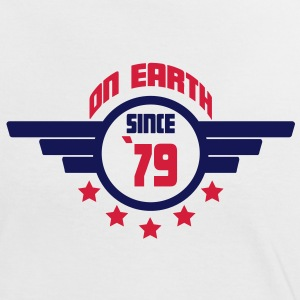 79 on earth - Geburtstag -T-Shirts - Frauen Kontrast-T-Shirt