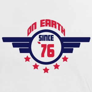 76 on earth - Geburtstag -T-Shirts - Frauen Kontrast-T-Shirt