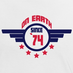 74 on earth - Geburtstag -T-Shirts - Frauen Kontrast-T-Shirt