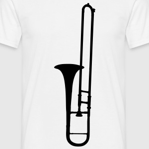 trombone brass instrument music T-shirts - Mannen T-shirt
