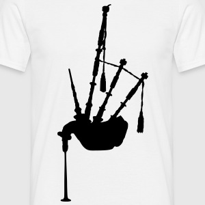 music bagpipe scotland scottish T-Shirts - Männer T-Shirt