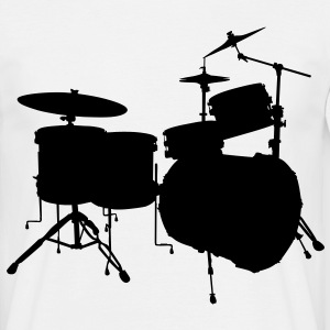 music drums drum set T-shirts - Mannen T-shirt