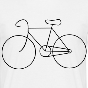 bike cycle cycling logo sport bicycle T-shirts - Herre-T-shirt