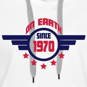 1970_on_earth Sweatshirts - Dame Premium hættetrøje