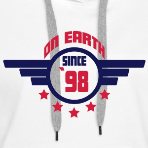 98_on_earth Sweatshirts - Dame Premium hættetrøje