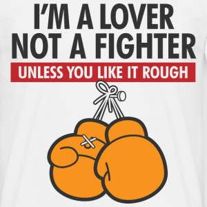 Lover Not A Fighter 2 (dd)++ T-skjorter - T-skjorte for menn