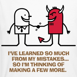 Learned From Mistakes 1 (dd)++ T-shirts - Mannen Bio-T-shirt