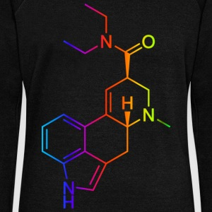 LSD Molecule Colored Hoodies & Sweatshirts - Women's Boat Neck Long Sleeve Top