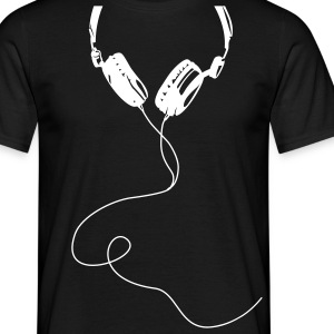 Headphone écouteurs audífonos Kopfhörer casque ear-phones - Tee shirt Homme