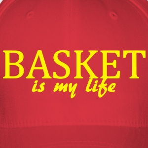 basket is my life Caps & Hats - Flexfit Baseball Cap