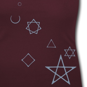 moon wicca, wicca, moon, moon, witches, full moon, women, occult, occult, magic, magic, pagan, gothic, goth, lesbian, lesbian, female, alchemy, numerology, nummerologie pay, star, star T-Shirts - Women's Scoop Neck T-Shirt