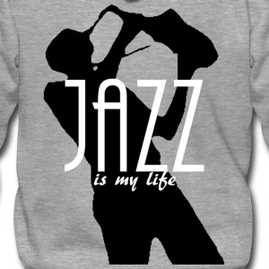 jazz is my life Felpe - Felpa con zip Premium da uomo