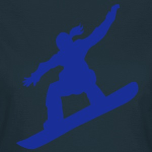 Snowboarding female - T-shirt dam