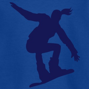 Snowboarding female - Teenager T-Shirt