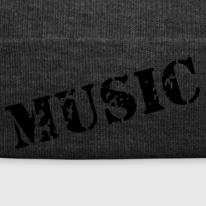 music as a stamp print design Caps & Hats - Winter Hat