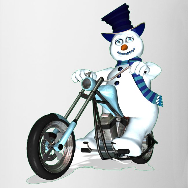 Biker Snowman Mug