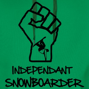 Independant Snowboarder Sweatshirt For Men Green ! - Sweat-shirt à capuche Premium pour hommes
