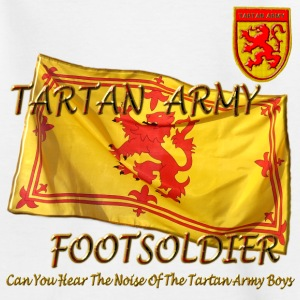 Scottish Tartan Army Footsoldier kids - Teenage T-shirt