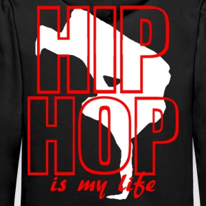 hip hop is my life Sweat-shirts - Sweat-shirt à capuche Premium pour hommes