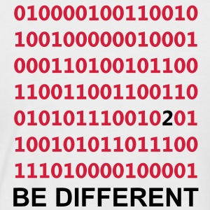 Be Different - Binario - Digital T-shirt - Maglia da baseball a manica corta da uomo