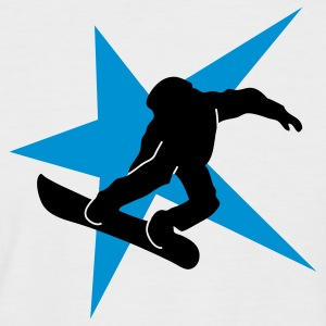 snowboarding star ii T-Shirts - Men's Baseball T-Shirt