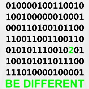 Be Different - Vara annorlunda - Binary - Digital T-shirts - T-shirt herr